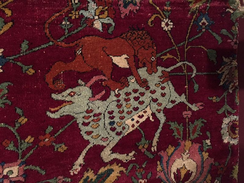 Safavid Era Carpets With The Date And Name Of The Museum
